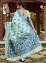 Designer Traditional Saree Weaving Banarasi Silk in Turquoise