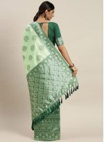 Designer Traditional Saree Weaving Poly Silk in Green