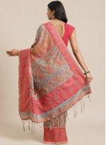 Designer Traditional Saree Weaving Silk in Multi Colour