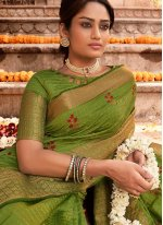 Designer Traditional Saree Woven Silk in Green