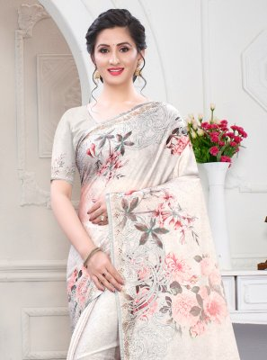 Digital Print Designer Saree