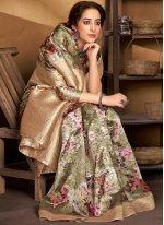 Digital Print Designer Traditional Saree