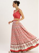 Digital Print Multi Colour Bollywood Lehenga Choli