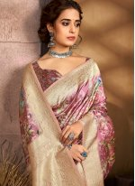 Digital Print Multi Colour Designer Traditional Saree