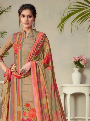 Digital Print Multi Colour Fancy Fabric Palazzo Designer Salwar Suit