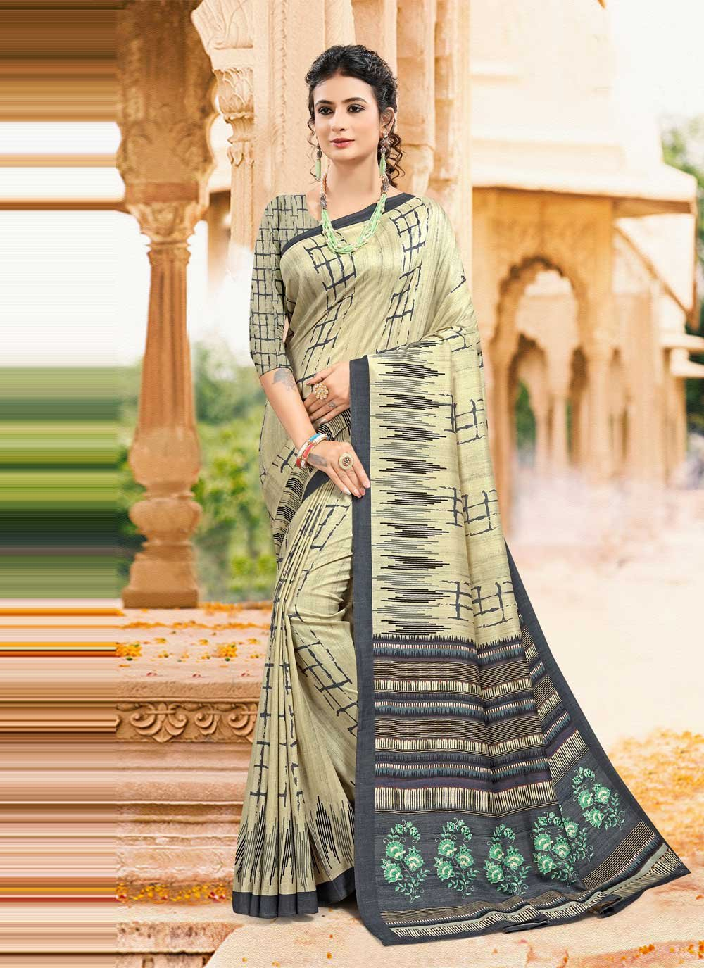 Digital Print Printed Saree
