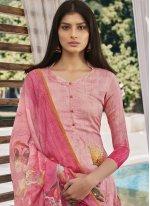 Digital Print Satin Designer Pakistani Suit