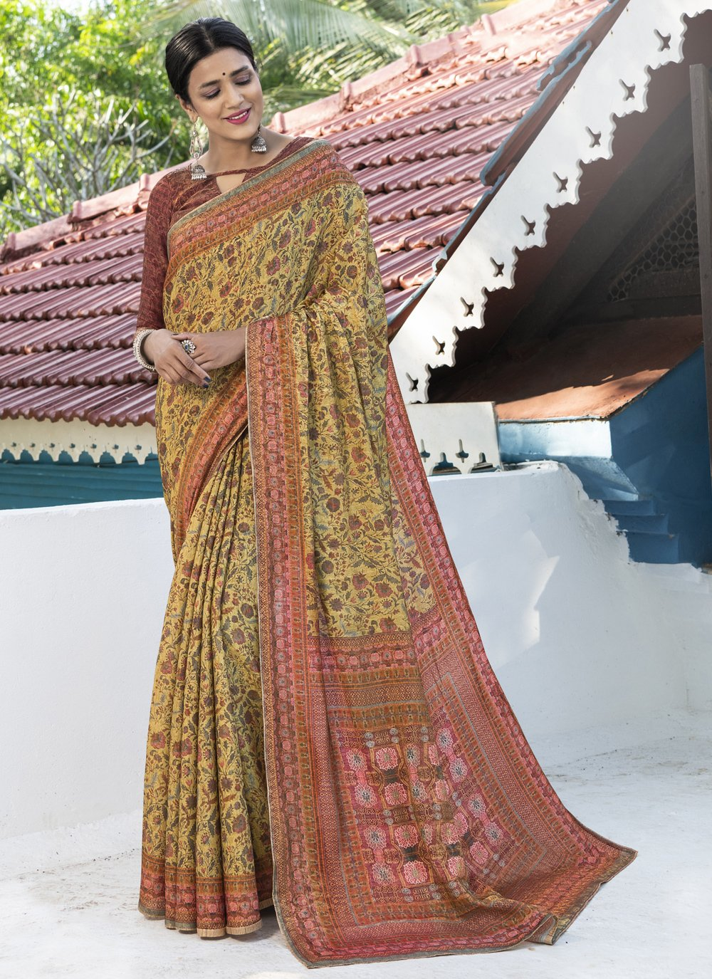 Digital Print Silk Designer Traditional Saree