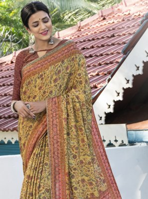 Digital Print Silk Designer Traditional Saree
