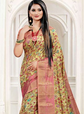 Digital Print South Cotton Multi Colour Printed Saree