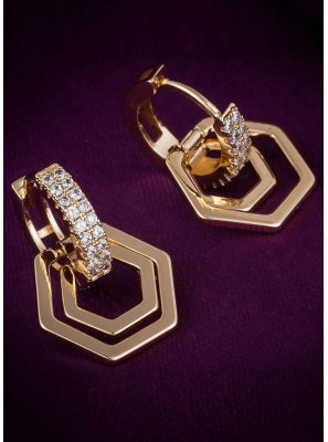 Ear Rings Diamond in Gold