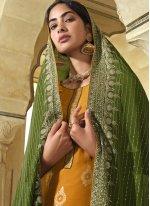 Embroidered Art Silk Designer Pakistani Suit