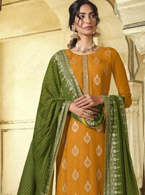 Embroidered Art Silk Designer Pakistani Suit