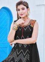 Embroidered Black Georgette Salwar Suit