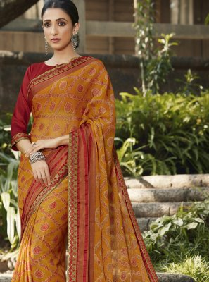 Embroidered Brasso Classic Designer Saree