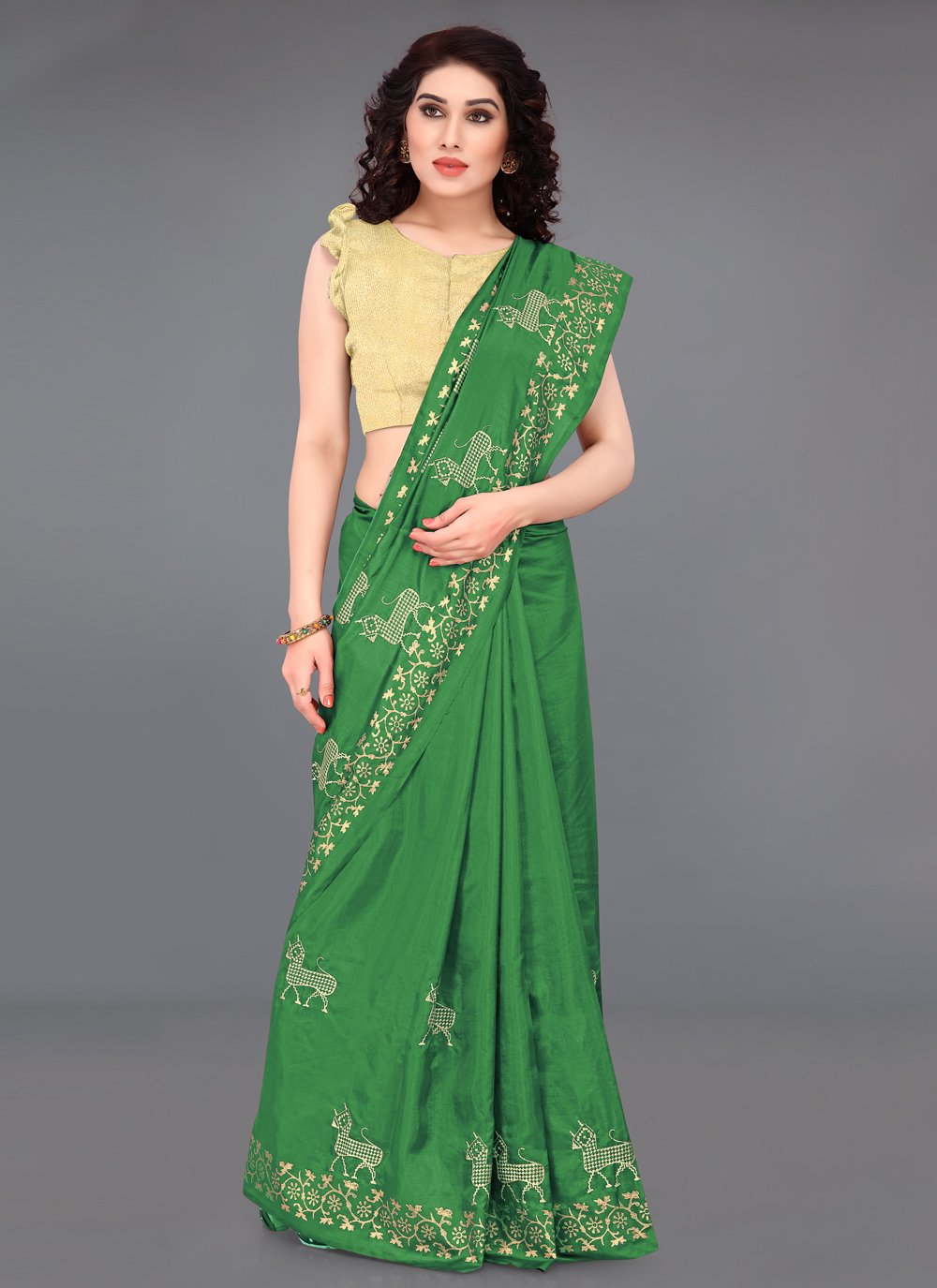 Embroidered Casual Casual Saree