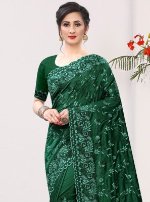 Embroidered Ceremonial Bollywood Saree
