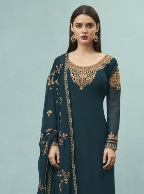 Embroidered Ceremonial Designer Pakistani Suit