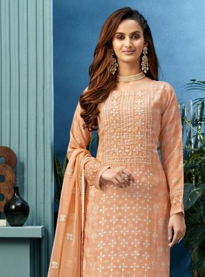 Embroidered Ceremonial Designer Palazzo Salwar Suit