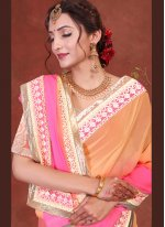 Embroidered Ceremonial Shaded Saree