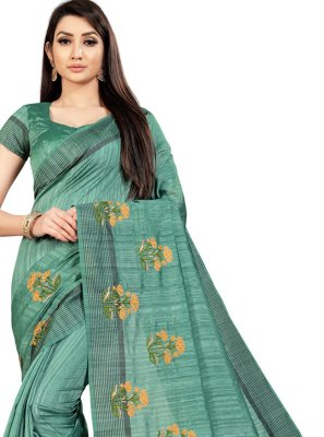Embroidered Ceremonial Trendy Saree