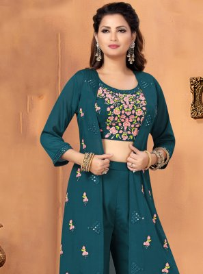 Embroidered Chinon Trendy Salwar Kameez