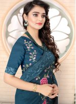 Embroidered Contemporary Saree