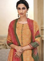 Embroidered Cotton Palazzo Salwar Suit