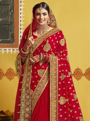 Embroidered Engagement Classic Designer Saree