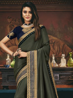 Embroidered Engagement Designer Traditional Saree