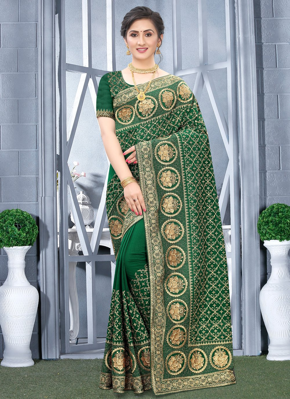 Embroidered Engagement Traditional Designer Saree