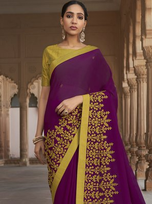 Embroidered Engagement Traditional Saree