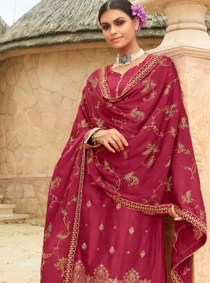 Embroidered Fancy Fabric Designer Palazzo Suit