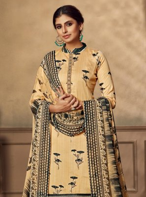 Embroidered Fancy Fabric Designer Patiala Suit