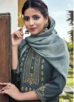 Embroidered Faux Chiffon Readymade Suit