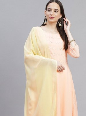Embroidered Faux Georgette Designer Suit