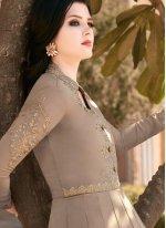 Embroidered Faux Georgette Floor Length Anarkali Salwar Suit
