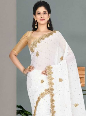 Embroidered Faux Georgette Traditional Saree