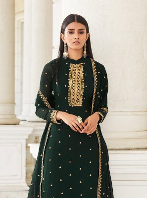Embroidered Festival Designer Palazzo Salwar Suit
