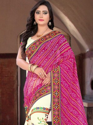 Embroidered Festival Half N Half  Saree