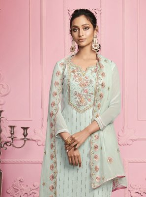 Embroidered Festival Pant Style Suit