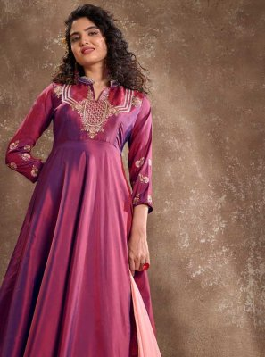 Embroidered Festival Readymade Anarkali Suit
