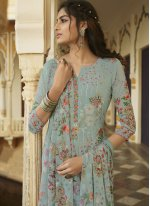 Embroidered Georgette Designer Salwar Kameez