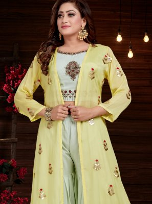 Embroidered Georgette Party Wear Kurti