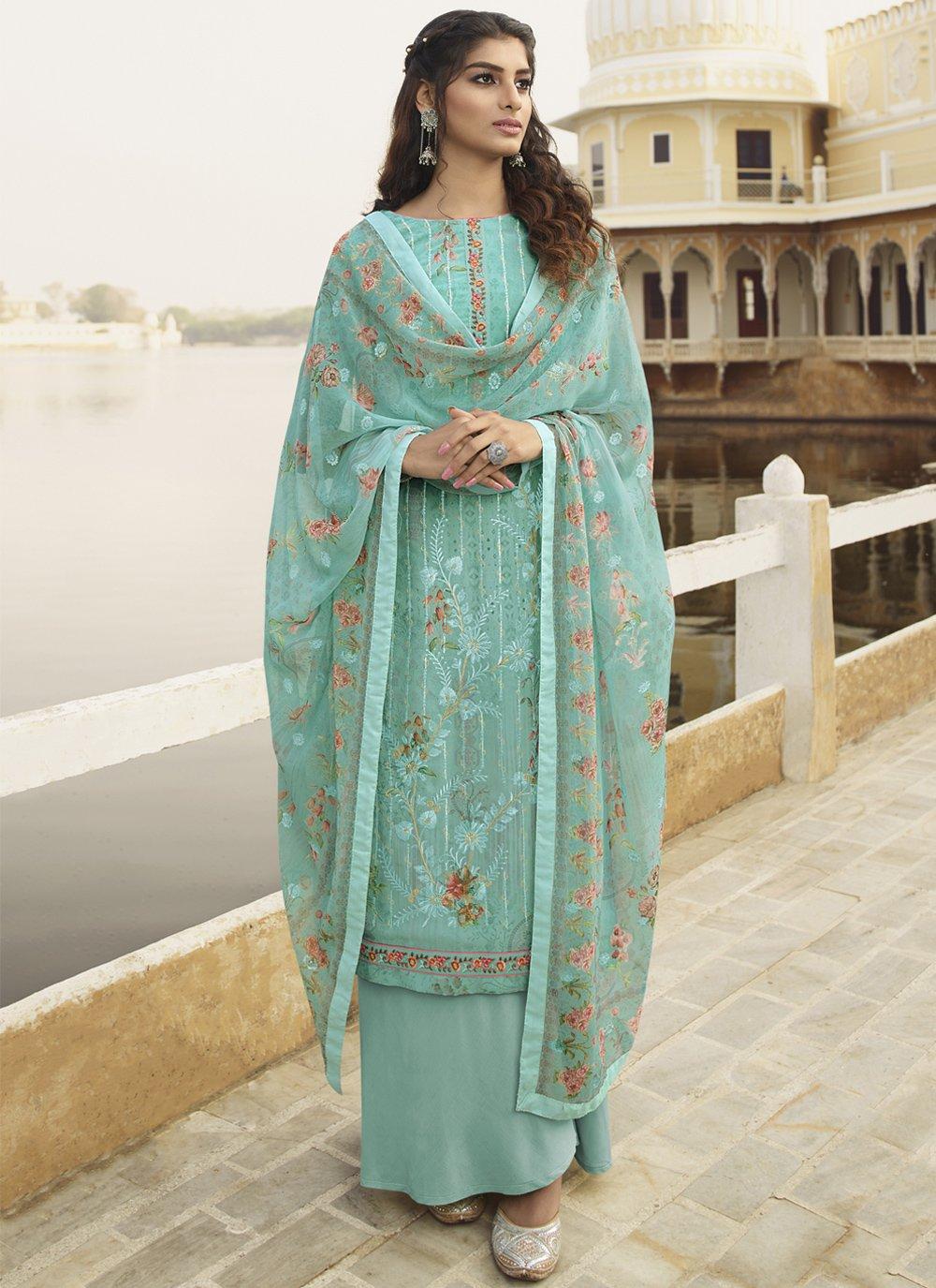 Embroidered Georgette Trendy Salwar Kameez