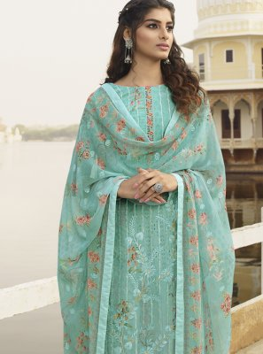 Embroidered Georgette Trendy Salwar Kameez