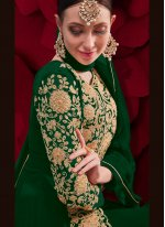 Embroidered Green Anarkali Suit