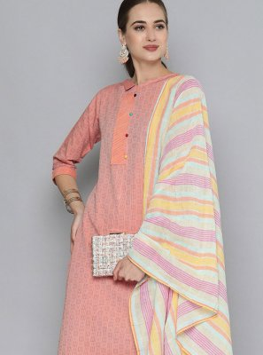 Embroidered Handloom Cotton Pant Style Suit