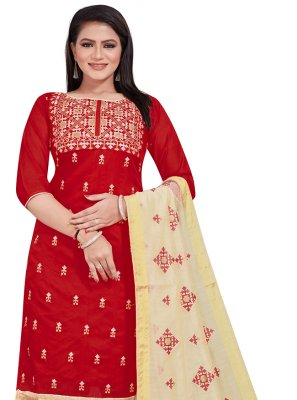 Embroidered Maroon Salwar Suit