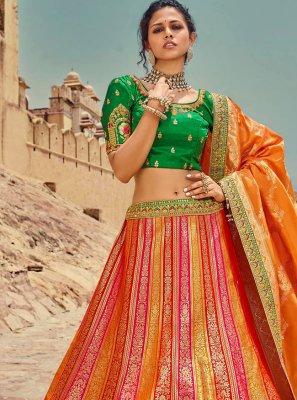 Embroidered Multi Colour Lehenga Choli
